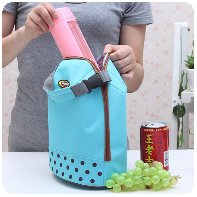 Carry Ice Pack Polka Dot Bottle Package