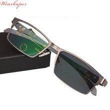 189e1ed895 Montura de aleación de titanio WEARKAPER transición progresiva gafas de  lectura fotocrómica lectores gafas de sol hombres mujere.