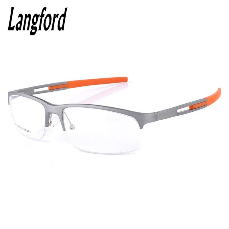 4076aaf0c0 Anteojos ópticos camber-marco de aluminio de magnesio genial hombre gafas  Semi-sin montura simplifica bisagra de resorte de primavera gm299
