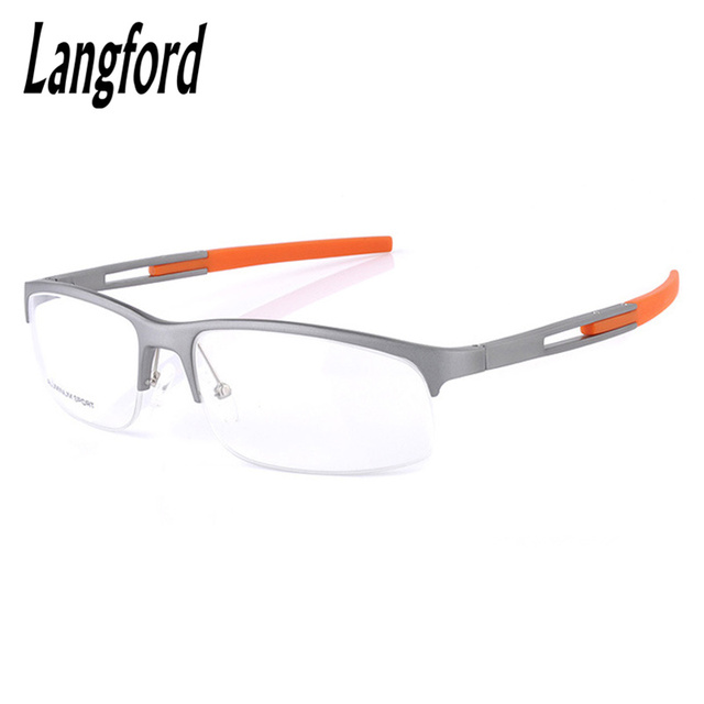 f4dd3e60d5b Optical spectacles camber half-frame aluminum magnesium cool man eyeglasses  Semi- Rimless Streamlines mono