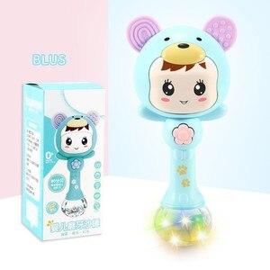 Image 4 - Bebek Shaker diş kaşıyıcı kum çekiç karikatür diş çıkarma aydınlatıcı bebek için enstrüman oyuncaklar kız ve erkek sevimli bebek çıngıraklar