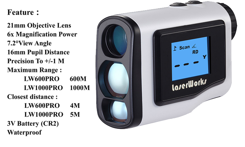 Golf entfernungsmesser mt handheld lcd display scope jagd