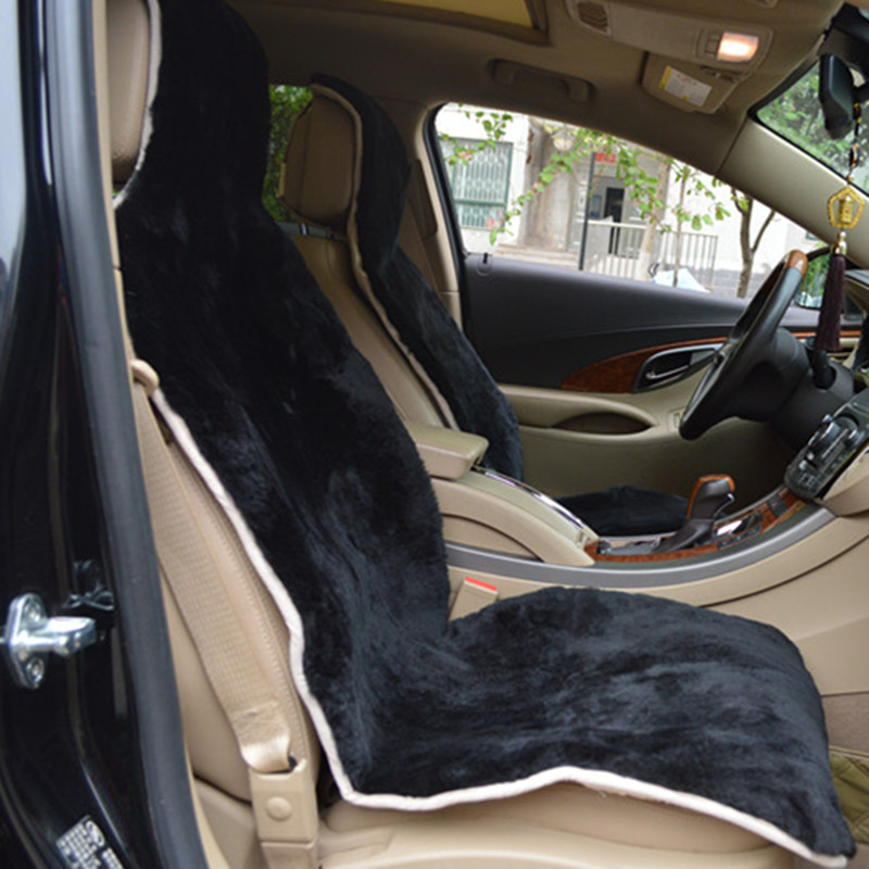 sheep fur car seat cover 1 pcs real fur car interior accessories 1 6 wool height commonly used. Black Bedroom Furniture Sets. Home Design Ideas