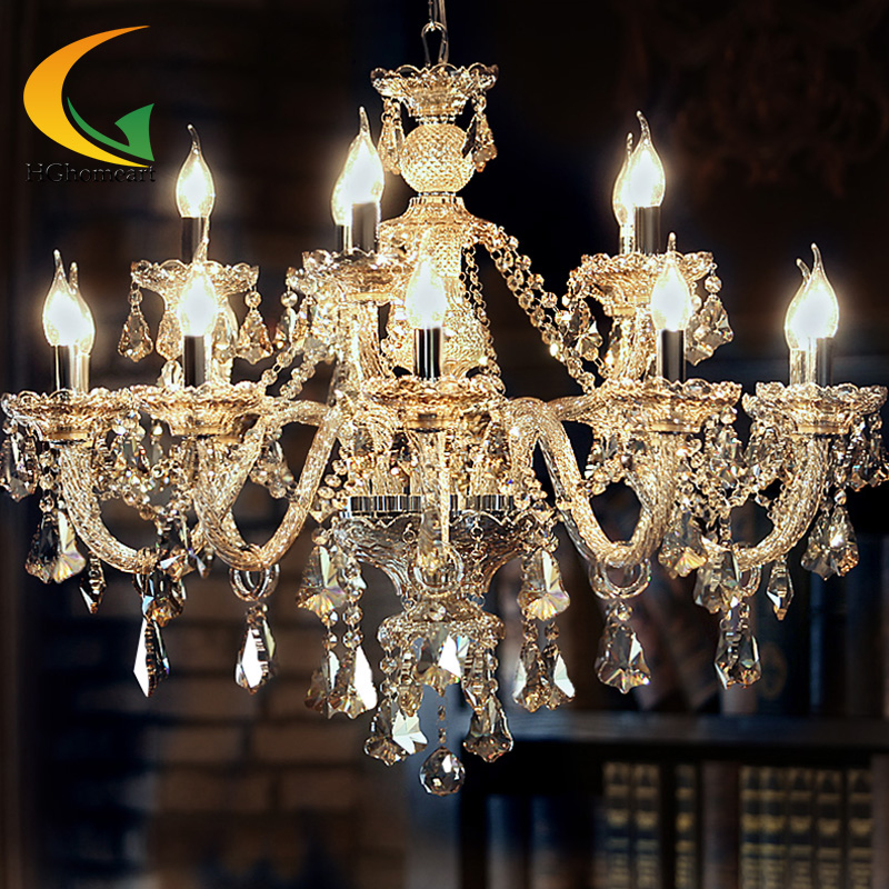 Crystal candle lamps modern crystal crystal chandelier Crystal candle chandelier