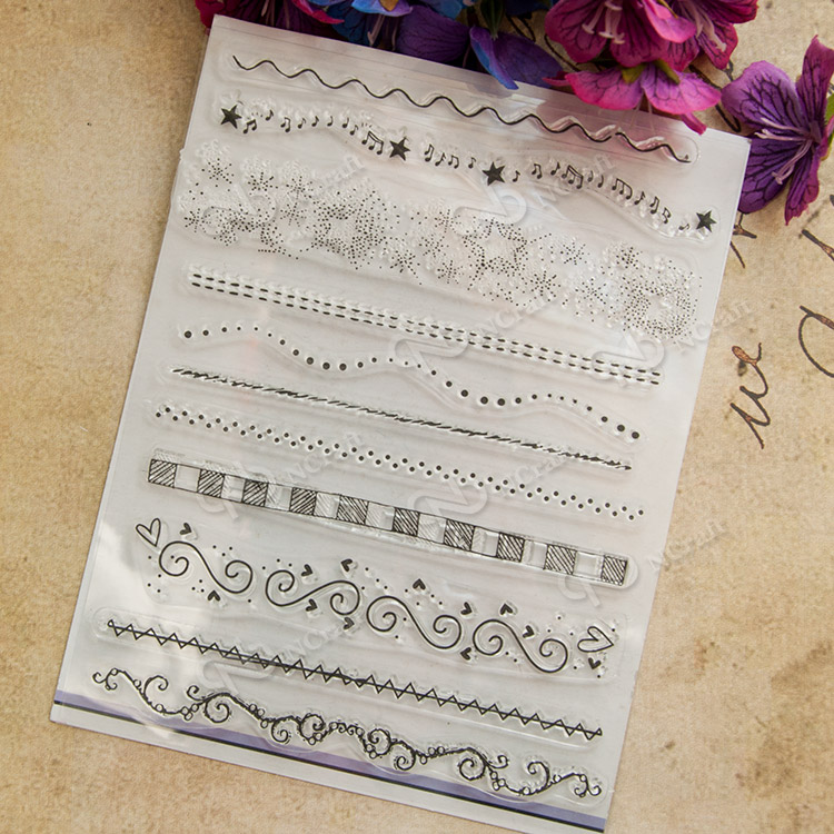 Line line Transparent Clear Silicone Stamp/Seal For DIY Scrapbooking/Photo Album Decorative Clear Stamp Sheets A245 memories transparent clear silicone stamp seal for diy scrapbooking photo album decorative rubber standard stamp sheets