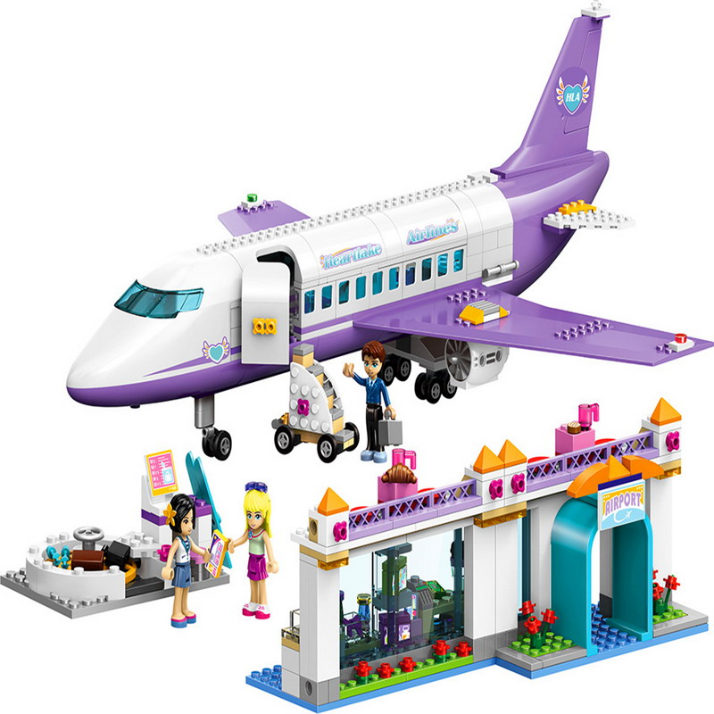 LELE 79175 Friends 701Pcs Heartlake City Airport Building Block Compatible With Legoings Airport 41109 Toys airport