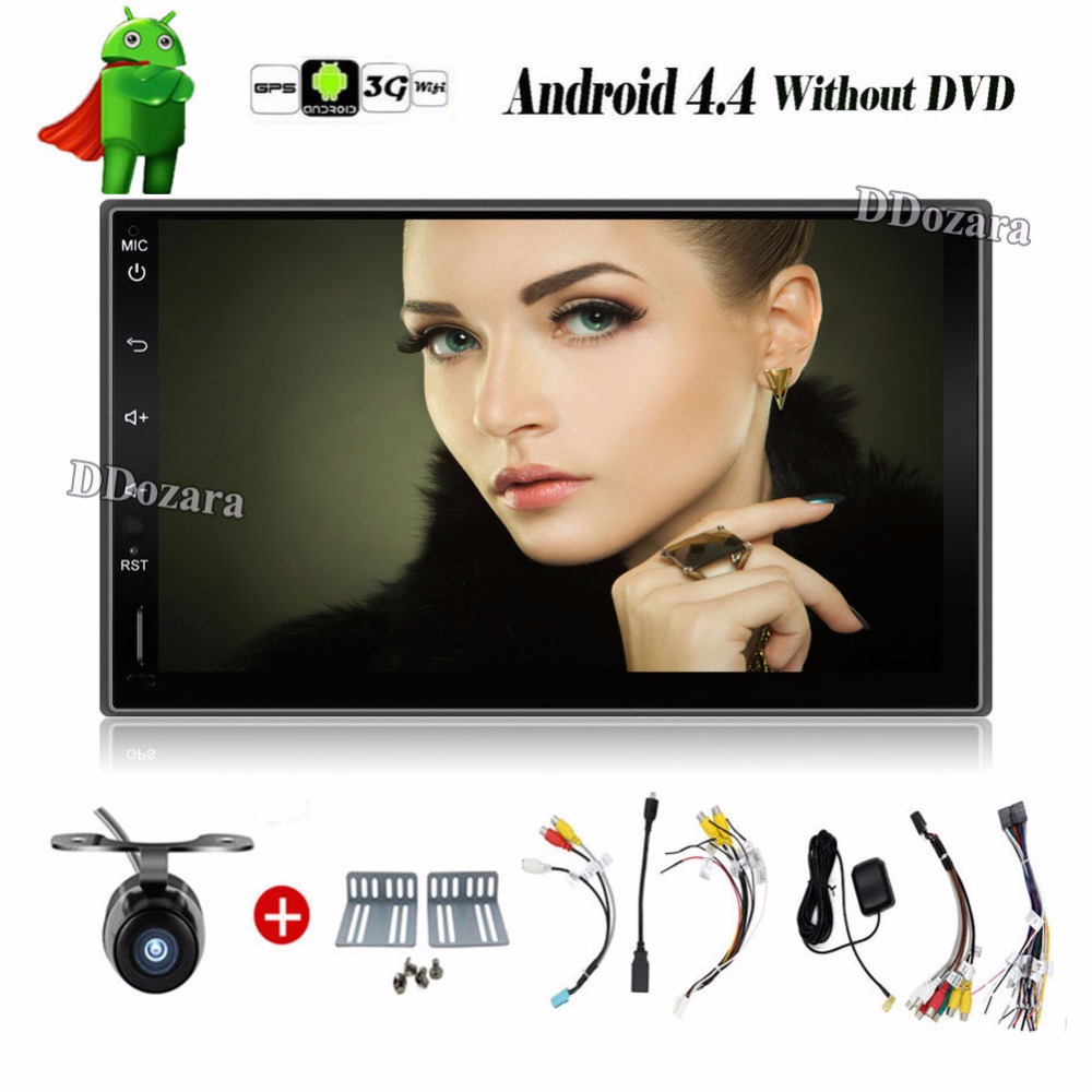 Universal 2 din font b Android b font 4 4 Car DVD player GPS Wifi Bluetooth