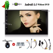 Universal 2 din Android 4.4 Coches reproductor de DVD GPS + Wifi + Bluetooth + Radio + quad core CPU + DDR3 + Pantalla Táctil Capacitiva + 3G + pc del coche + aduio