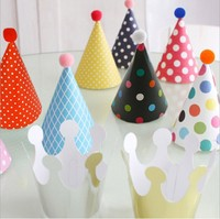Child Birthday Party Supplies Decoration Cap Mini Birthday Hat Party Hats