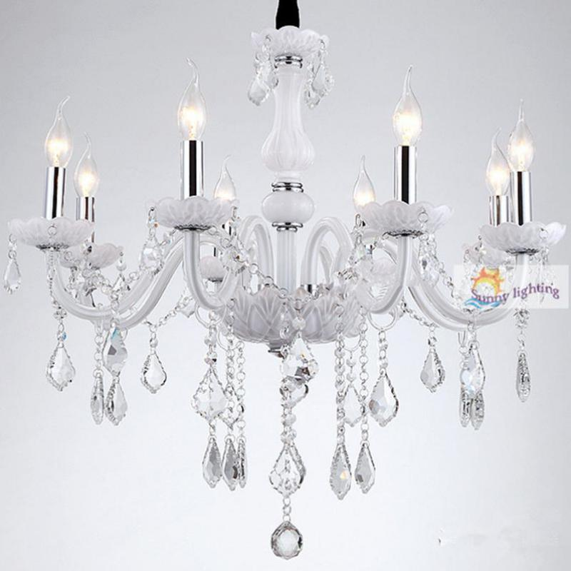 Free shipping Modern clear crystal chandeliers with lampshade bedroom Kitchen chandeliers lamps dining room kids hanging light