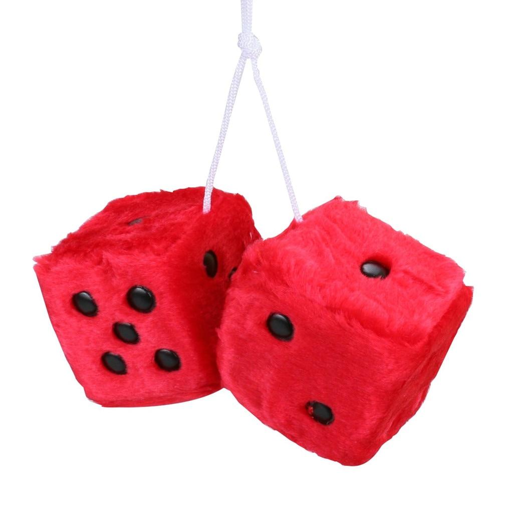 Новинка, плюшевые кости, красочные кости, зеркало, подвеска для автомобиля, подвесная подвеска, украшение для дома для bmw, для toyota, для honda X1, X5, X3 - Название цвета: Красный