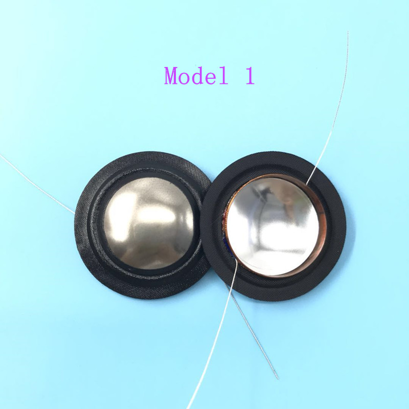 20PCS Inside and outside double line High Quality 25 5mm voice coil Titanium Silk diaphragm 8Ohm