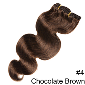 Doreen заколки для волос в полный набор головы 160 г 200 г искусственные волосы одинаковой направленности настоящие натуральные человеческие волосы для наращивания зажим для волос - Color: #4