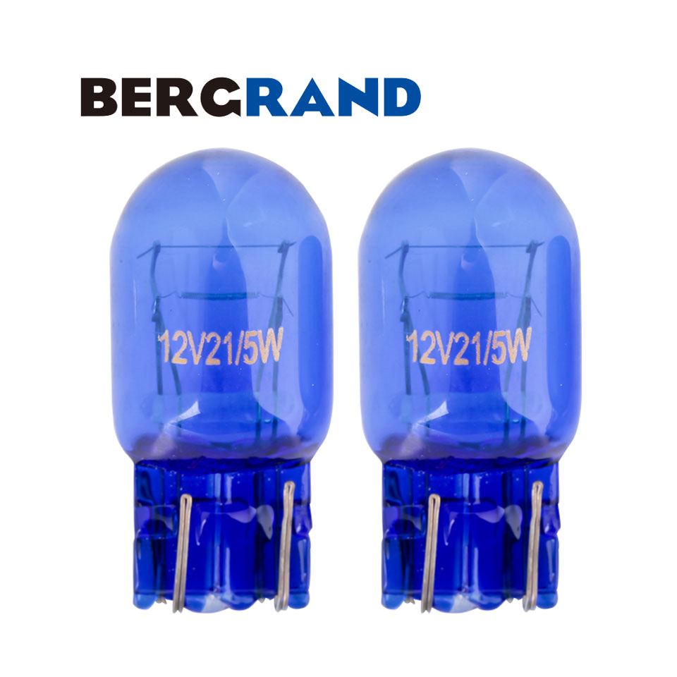 2PCS T20 Βολβός Φυσικό γυαλί Μπλε 7443 580 W21 / 5W DRL Βολβοί Διπλές ίνες W3 * 16q Για λαμπτήρες Vauxhall ASTRA J για αυτοκίνητο