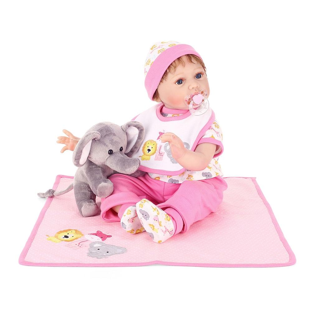 2018 New 55CM Soft Vinyl Reborn Doll Lifelike Newborn Girls House Play Baby Dolls for Kids Playmate Gifts