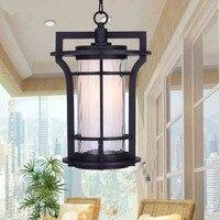Outdoor chandeliers outdoor European style waterproof courtyard balcony lights Chinese ancient pavilion corridor lamps