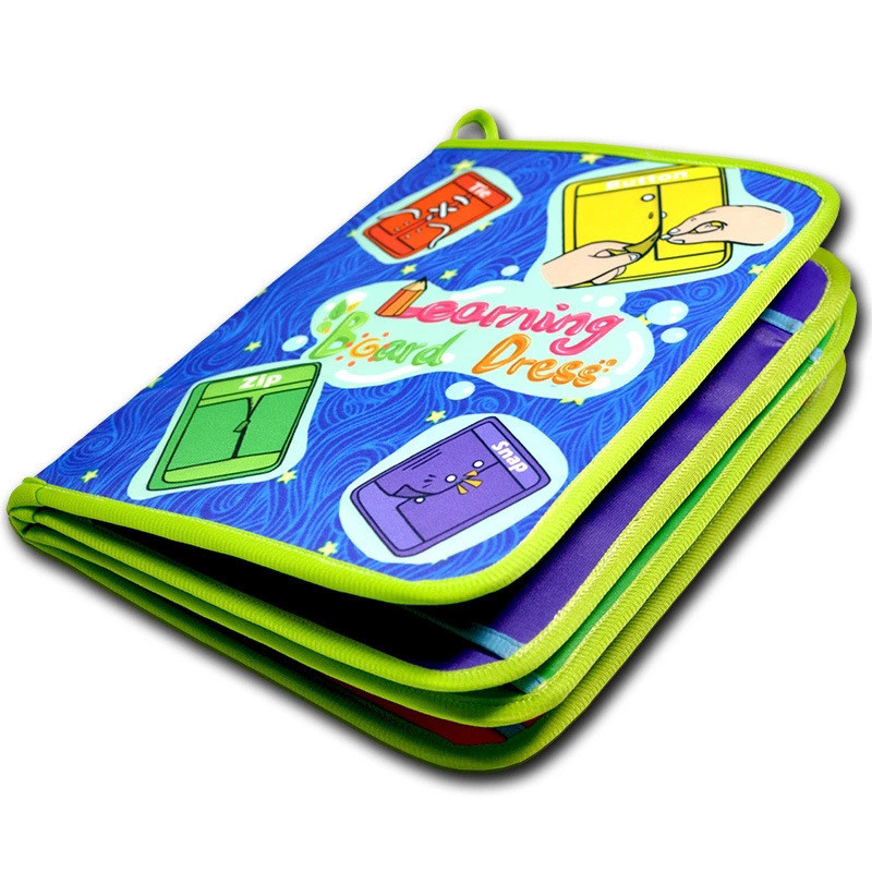 Montessori Educational Toys Learn Baby Toy Book Early Learning Basic Life Skills Toys - Zip, Snap, Button, Buckle, Lace & Tie