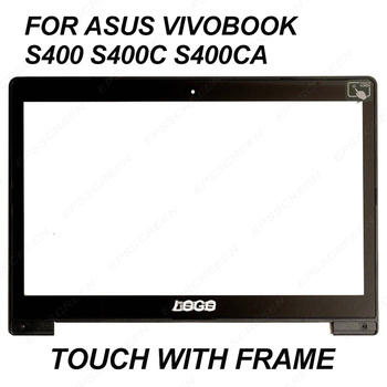 For Asus Vivobook S400 S400C S400CA 14″ LCD Touch Screen Glass JA-DA5343RA digitizer panel bezel front glass with frame