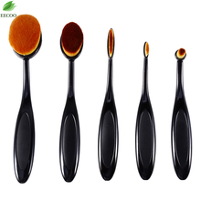 5Pcs/set maquiagem Oval Toothbrush Pro makeup brushes Face Foundation Powder make up brushes pincel maquiagem make up tools hot