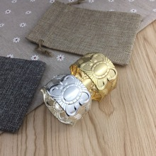 6PCS metal alloy napkin ring wedding hotel party jewelry household items