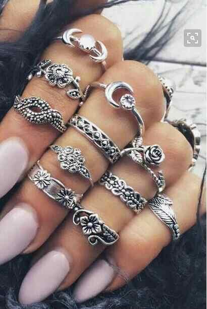 R etroกุหลาบใบ11ชิ้นชุดแกะสลักสัญลักษณ์แหวนพังก์แหวนสำหรับผู้หญิงวัสดุโลหะผู้ชายแหวนผู้ชาย,พรรคอุปกรณ์เครื่องประดับ