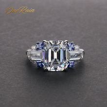 OneRain anillo de compromiso Vintage para mujer, Esmeralda, citrino, zafiro, aguamarina, GEMA, boda