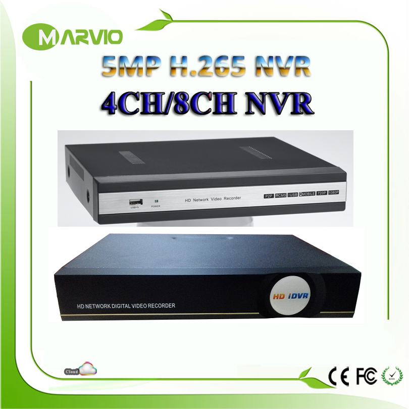 New H.265/H.264 4ch / 8ch channel 5MP NVR IP Camera Security Video Network Recorder 4K HIMI Output Onvif techage h 265 h 264 8ch 48v poe ip camera nvr security surveillance cctv system p2p onvif 4 5mp 8 4mp hd network video recorder