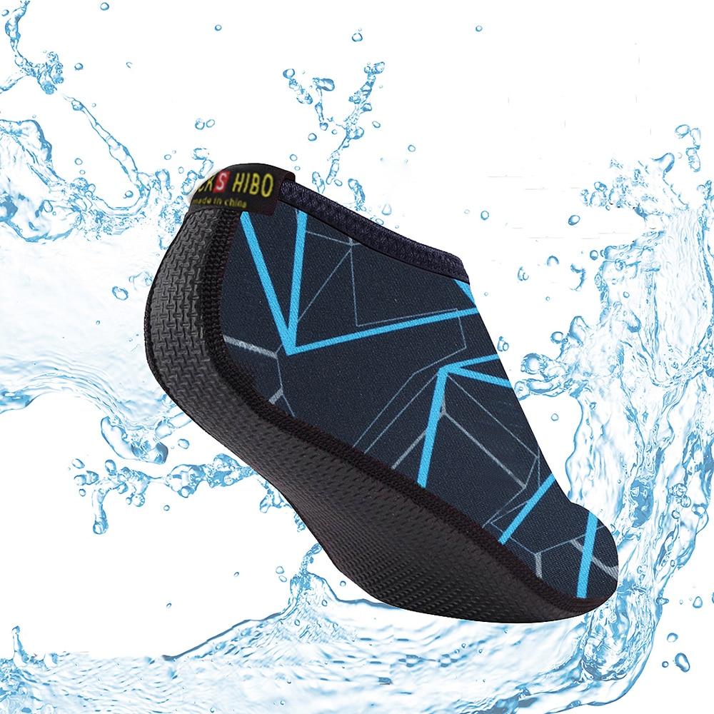 JACKSHIBO Summer Water Shoes Men Swimming Shoes Aqua Beach Shoes Big Plus Size Sneaker for Men Striped Colorful zapatos hombre 1