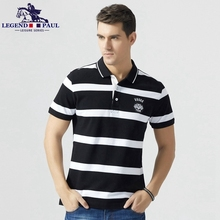 Legend Paul Brand 2017 summer fashion men's New Cotton Men Polo stripe business Shits Short Sleeve Casual Leisure male tee