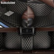 Kokololee personalizado tapetes do assoalho carro para toyota todos os modelos corolla yaris rav4 land cruiser prado coroa previa camry estilo carro auto