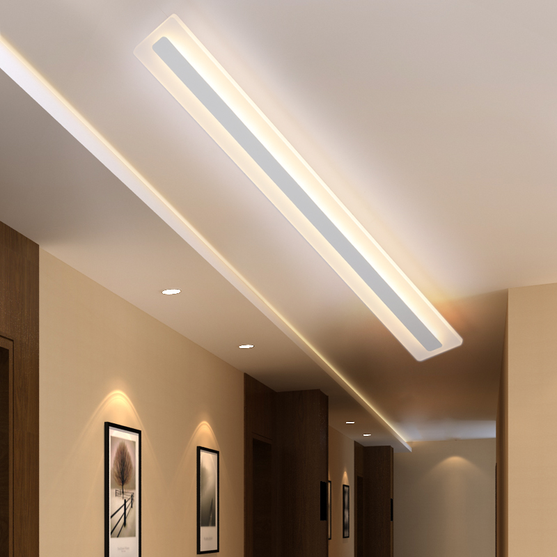 Long Shaped Ceiling Lamp Modern Minimalist LED Bedroom