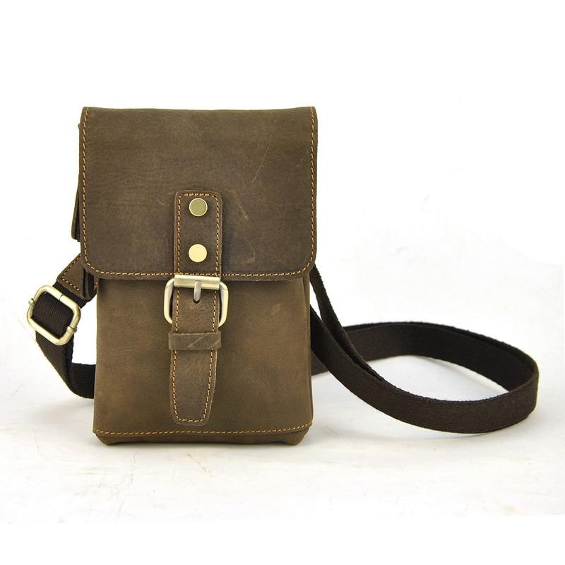 Men Vintage Genuine Leather Shoulder Bag Women Handbag ...
