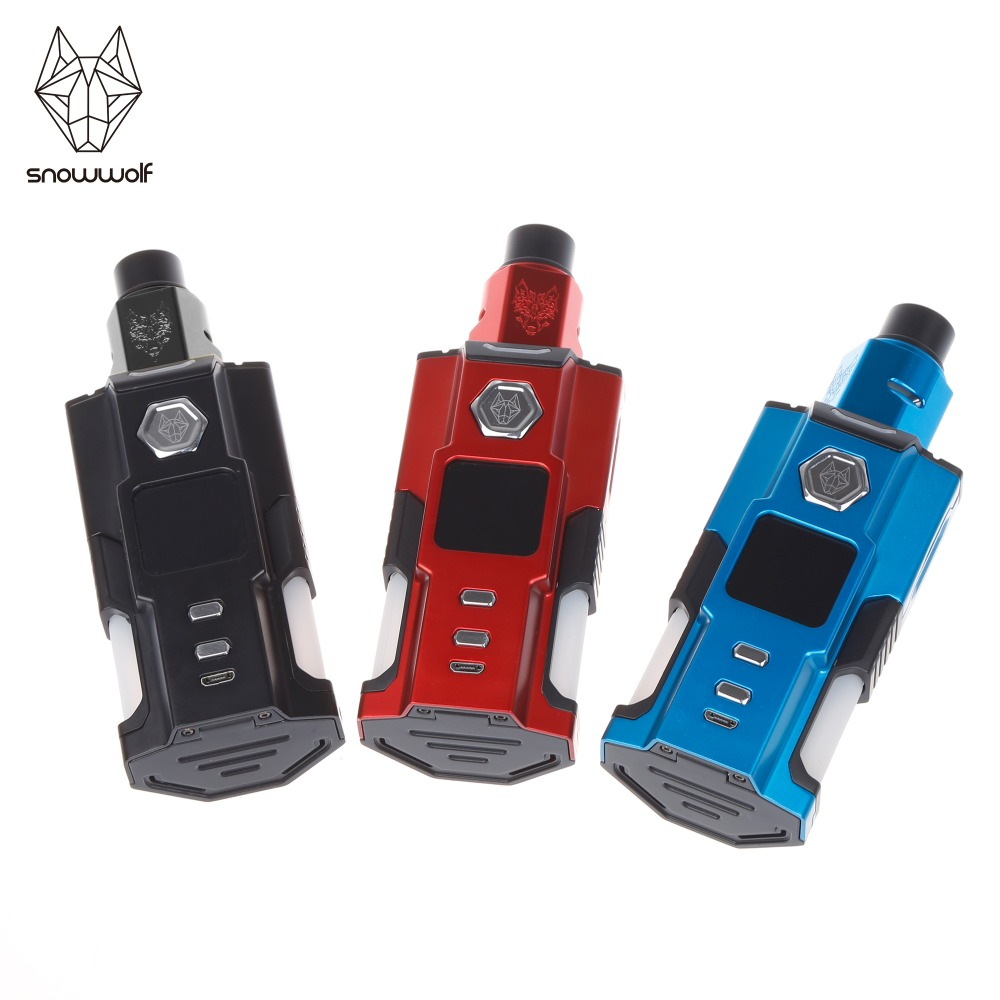 Original e electronic cigarette  Snowwolf Squonk  Vfeng kit RDA Vape Vaporizer Power by 21700/18650 Battery 2pcs new original lg hg2 18650 battery 3000 mah 18650 battery 3 6 v discharge 20a dedicated electronic cigarette battery power