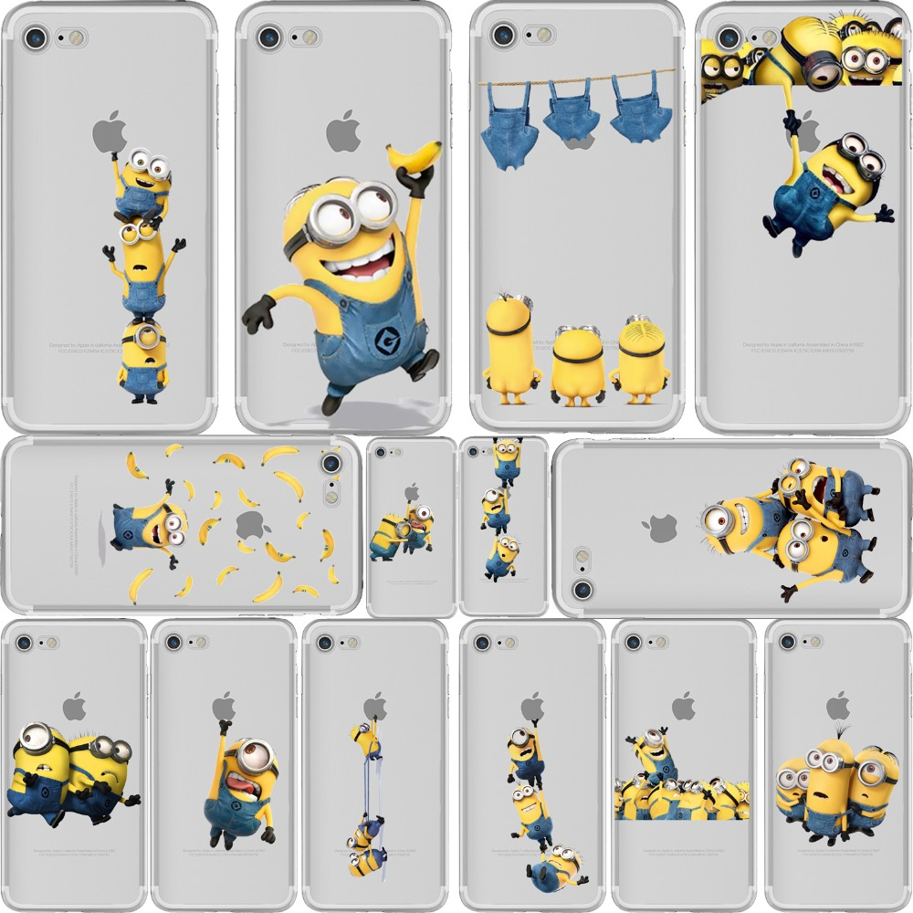 promo code dc1de 3aeb1 Yellow Minions Soft Silicone Case Cover for iPhone 6 6S 7 8 Plus 5S SE X