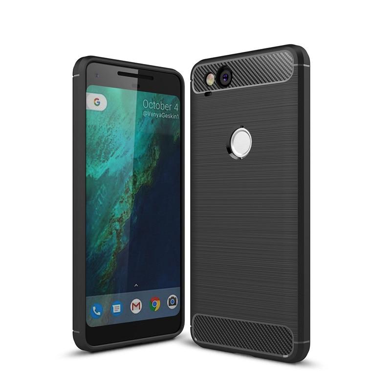 For Google Pixel 2 / 2 XL Case Luxury Brushed Carbon Fiber Soft TPU Back Cover For Google Pixel 3 / 3XL Shockproof Coque Fundas