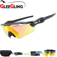 2d78ec9200 GLEEGLING 9280 1Set 5 Lens Yellow Lens Night Driving Glasses Fishing Cover Sunglasses  Eyewear UV400 Clip