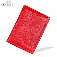 RUSSIA Real Cowhide Geniune Leather Passport Cover Holder Porta Pasaporte Postcards Passport Case Travel Card Wallet