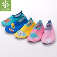 Kocotree ילדים נעלי מים Anti-slip יחפות כף רגל נעליים עבור חוף ביץ Sandy Beach נעלי אקווה לילדים סנדלים מקורה