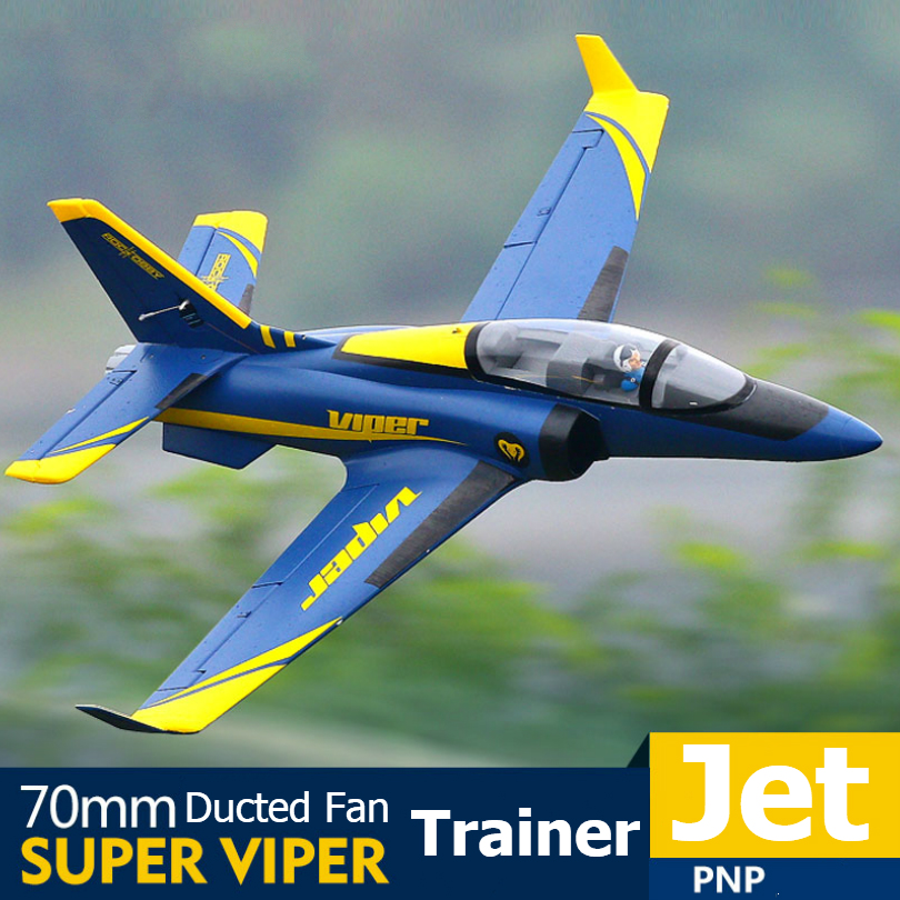 FMS RC Airplane 70mm Super Viper Ducted Fan EDF Jet Trainer 6S 6CH with Retracts Flaps