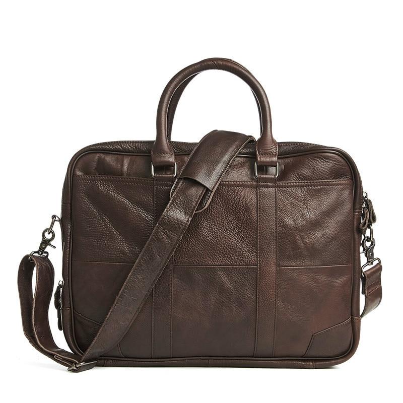 2017 New Fashion Genuine Leather Men Bag Famous Brand Shoulder Bag Messenger Bags Causal Handbag Laptop Briefcase Male GW27  men messenger bags 2015 27 shoulder bag