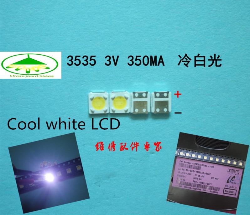 200pcs FOR SAMSUNG 3537 LED Backlight High Power LED 1W 3537 3535 350MA Cool White LCD Backlight For TV TV Application 3v LED