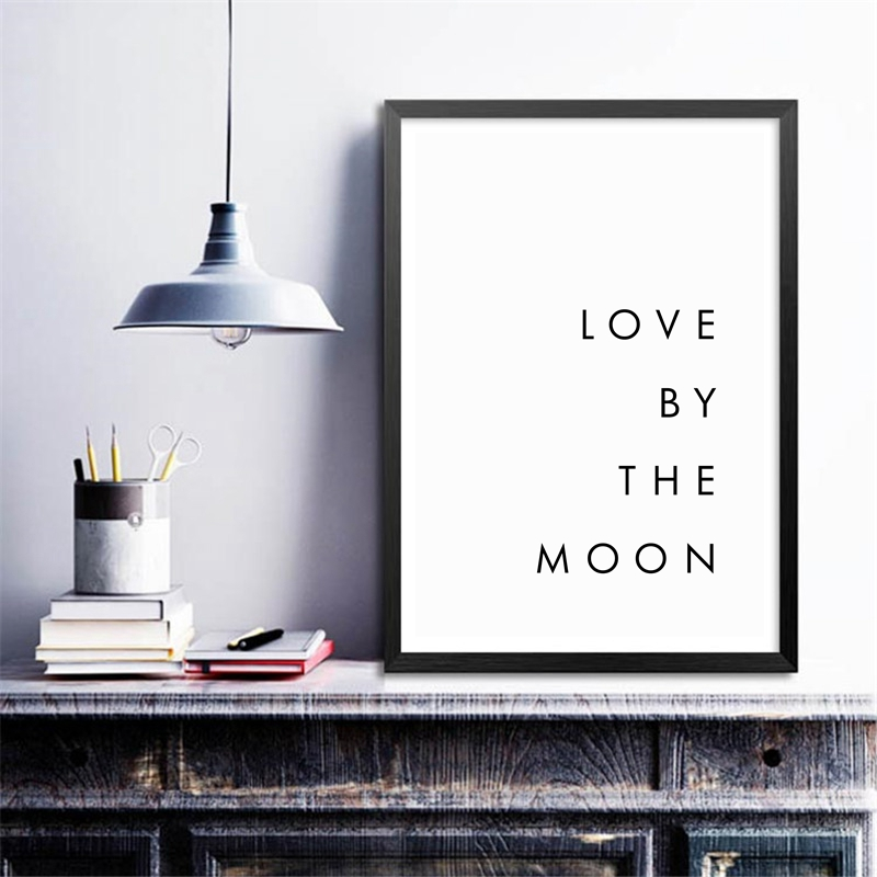Bedroom Wall Art Minimalist Canvas Print Poster