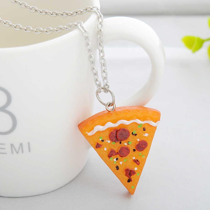 Qihe 7 Pcs Dalam 1 Set Pizza Kalung Teman Terbaik Selamanya Kalung untuk Wanita Pria Anak Persahabatan Hadiah Terbaik colar