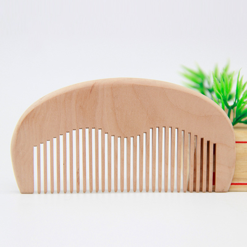 Купить с кэшбэком Classical Handmade Wide Wood Comb Natural Head Massager Hair Combs Hair Care Anti-Static Wooden Comb Gifts