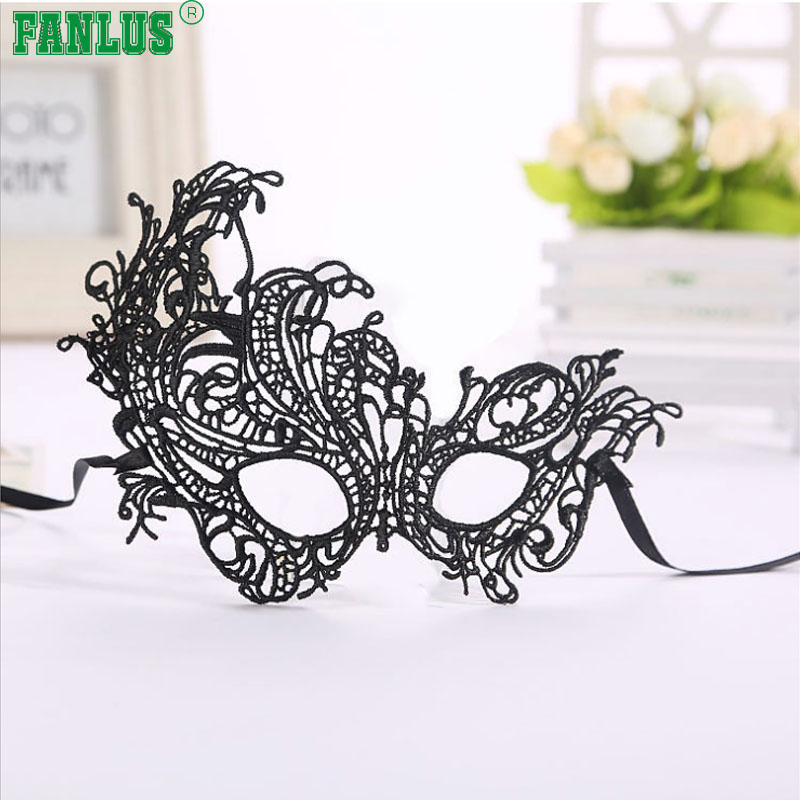 FANLUS Mask Women's Lace Eye Mask For Masquerade Party Prom Ball Halloween