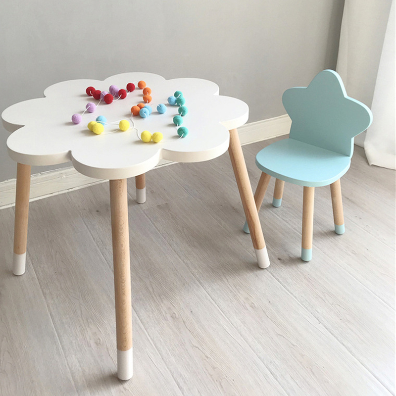 Explosion models Nordic style furniture children's room solid wood stars children's room stool writing study chair WF5311044
