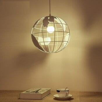 Nordic LED Globus Anhänger Lampe Eisen Schwarz/weiß Lampe Cafe Wohnzimmer Bar Büro Decke Kinder Decke Lampe Schlafzimmer