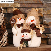 Snowman Family Christmas Toys for gift  Christmas Decorations for Home Party Decoration Adornos Navidad 2016