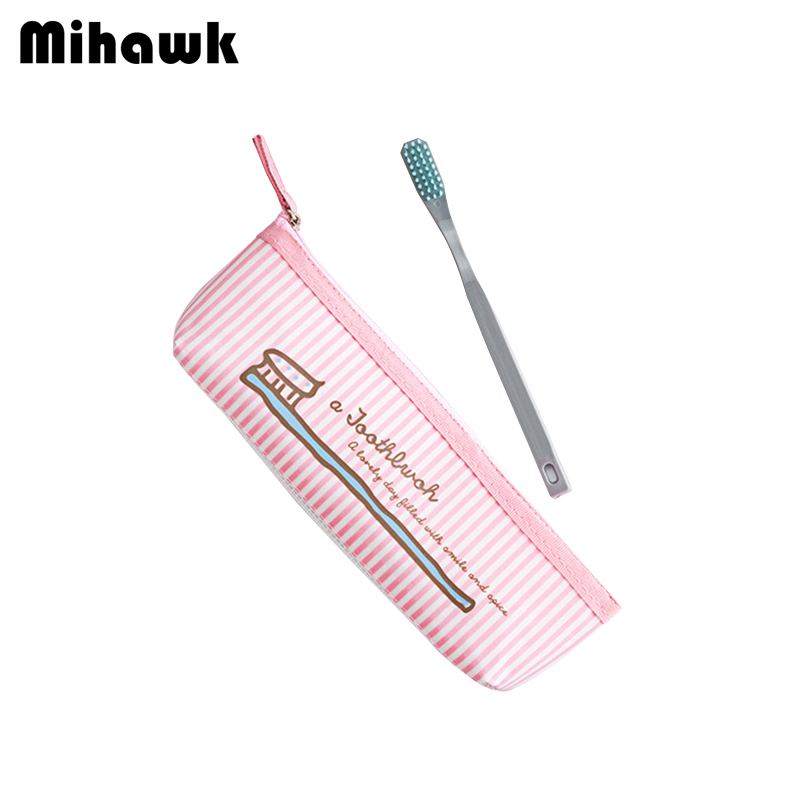 Mihawk Cartoon Toothbrush Toiletry Bags Personality Travel Beautician Cosmetic Pouch Makeup Storage Beauty Accessories Supplies