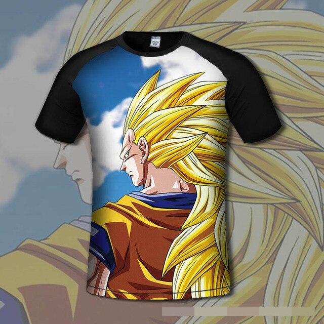 High Quality 3d t-shirt Men Funny Print Dragon Ball t shirt Harajuku Anime T -shirt Men Casual Brand T shirt 13 Style S-3XL Plus
